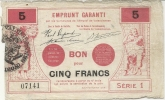 EMPRUNT GARANTI . VALENCIENNES - Bons & Nécessité