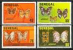 1982 Senegal Farfalle Butterflies Schmetterlinge Papillons Set MNH** B587 - Sénégal (1960-...)