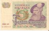 BILLETE DE SUECIA DE 5 CORONAS DEL AÑO 1969 CALIDAD MBC  (BANKNOTE) - Suecia