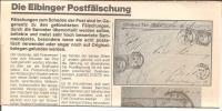 Dt. Reich 1873 / Elbinger Postfaelschungen (Brustschilder) - Philately And Postal History
