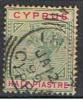 XIP 22** YVERT 24** REINE VICTORIA, 1/2 P.**1894-96** OBLITÉRÉ ANCIEN** - Chypre (...-1960)