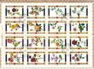 UMM AL QIWAIN  1972  Roses    Bloc De 16 Différents Michel 1434-49  Oblitérés - Umm Al-Qaiwain