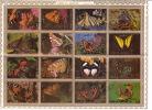 UMM AL QIWAIN  1972  Papillons  Série Complète Bloc De 16 Différents Michel 1498-1513  Oblitérés - Umm Al-Qiwain