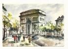 Cp, 75, Paris,  Arc De Triomphe De L'Etoile, Illustration : Zoé - Arc De Triomphe