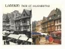 Cp, 22, Lannion, La Place Du Général Leclerc En 1910 Et 1986, Multi-Vues, Voyagée 1989 - Lannion