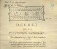3929 - A SAISIR -   DOCUMENT REVOLUTION 1792  - REFUS D'UN EVEQUE ........CAUSE VICAIRE MARIE - Décrets & Lois