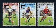 """Nicaragua ** PA N° 740 à 742 Surchargés """"J.O. De Munich"""" - Champions De Foot - Nicaragua"""