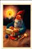 Elf With Toys God Jul Merry Christmas Mini Postcard - 1949 - Non Classificati