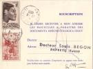 TAHITI-PAPEETE DU 17-3-1956 - SUR FORMULE CARTE REPONSE LABORATOIRES GEIGY.