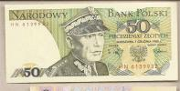 Polonia - Banconota Non Circolata FdS Da 50 Zloty P-142e - 1988 - Polonia