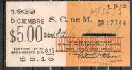 1  URUGUAY  1939-Ticket Mensual-Sociedad Comercial De Montevideo-TRANVIAS REBAJADA !!! - Tranvías