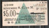2  URUGUAY  1939-Ticket Mensual-Sociedad Comercial De Montevideo-TRANVIAS-REBAJADA  !!!! - Tranvías