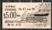 3   URUGUAY  1940-Ticket Mensual-Sociedad Comercial De Montevideo-TRANVIAS  REBAJADA  !!! - Tramways
