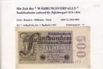 """Banknoten Während Der Inflationszeit V. 1923  500 Millionen Mark -  """"__"""" (0316) - [ 3] 1918-1933 : Weimar Republic"""