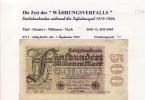 """Banknoten Während Der Inflationszeit V. 1923  500 Millionen Mark -  """"__"""" (0317) - [ 3] 1918-1933 : Weimar Republic"""