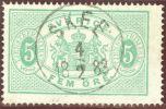 Heimat Schweden SKEE 1883-02-04 Vollstempel Auf Dienst 5 Öre Mi#D3A - Service