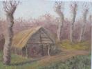 Peinture Huile Pinceau /Grange Agricole En Bordure De Forêt/Non Signé/ Début 20éme      GRAV6 - Altre Collezioni