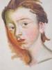 Peinture Gouache Pinceau /Portrait Jeune Fille/Etude/Non Signé/ Début 20éme      GRAV7 - Altre Collezioni