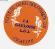SOCIETE ORNITHOLOGIQUE DE PICARDIE / LA GAULOISE L.G.A. - Stickers