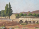 Peinture Huile Pinceau /Paysage Du Sud Avec Pont De Pierre/ Signé C. TENAUD/ 1942  GRAV8 - Non Classés