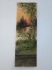 Peinture Gouache Pinceau /paysage D´automne Au Bord Du Lac/ Panneau De Véranda/signé/vers 1920  GRAV9 - Altre Collezioni