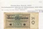 """Banknoten Während Der Inflationszeit V. 1923  10 Milliarden Mark -  """"__"""" (0321) - 10 Milliarden Mark"""