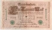 Billet/Allemagne/1000 Reichsbanknote/avril 1910              BIl11 - [ 2] 1871-1918 : German Empire