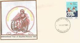 Australie.  Annee Internationale Des Handicapes.  FDC 1981 - Medicine