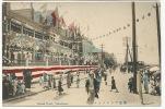 Yokohama Grand Hotel American Flags  Hand Colored - Yokohama