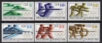 DDR - Jeux De Séoul 1988 - Yvert N° 2796 à 2801 ** - Ete 1988: Séoul