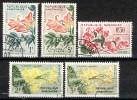 Gabon 1961, Flowers (o), Used, (not Complete) - Gabon (1960-...)