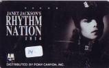 PHONECARD JAPAN * Télécarte JAPON * JANET JACKSON (14) Film Cinéma Movie Kino Phonecard. - Muziek