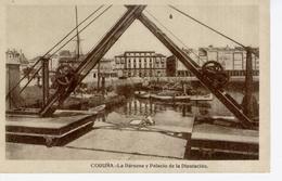 (CPA2182) LA CORUÑA .  DARSENA Y PALACIO DE LA DIPUTACION - La Coruña