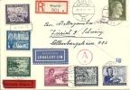 1944 Satzbrief Deutsche Reichspost Mit Zusatzfrankatur - Allemagne