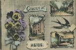 Heide :  Groeten Uit   (  Geschreven  1910  Met Zegel )   Hirondelle - Zwaluw - Non Classés