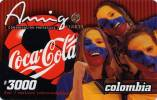 Lote TT5, Colombia, Tarjetas Telefonicas, Phone Cards, Coke,  Coca Cola, Futbol Colombia, Used - Colombia