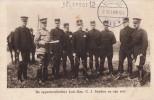 prentkaart militairen Nederland veldpost 12 Breda , 2 november 1916 , niet verzonden griffe  uitgespaard op donkere acht