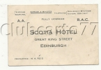Édimbourg Ou Edinburgh (Royaume Uni, Ecosse) : Carte De Visite De L'Hôtel Scotia En 1950 DOC RARE. - Cartoncini Da Visita