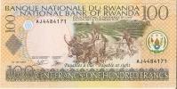 BILLETE DE RUANDA DE 100 FRANCOS DEL AÑO 2003 (BANKNOTE) NUEVO SIN CIRCULAR - Ruanda-Urundi