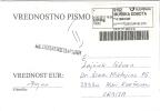 Slovenia 2012. Insured Letter ATM Label Murska Sobota Machine Stamp - Slowenien