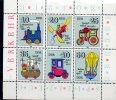 D.D.R - N° 2224/29 ** Sur Feuillet - JOUETS (train - Avion - Bateau  - Mongolfière - Cote 6 € - Childhood & Youth