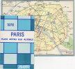 C0675 PARIS - PLANS METRO RER AUTOBUS RATP 1978 / METROPOLITANA - Mappe