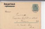 """1909 - RARE CARTE POSTALE ENTIER ALLEMANDE """"GERMANIA"""" Avec REPIQUAGE En FRANCAIS De HAGUENAU (ALSACE) - Alsace Lorraine"""