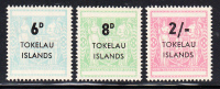 Tokelau MNH Scott #6-#8 Surcharges On NZ Post-Fiscals - Tokelau