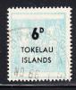 Tokelau Used Scott #6 6p Light Blue - Surcharges On NZ Post-Fiscals - Tokelau