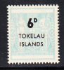 Tokelau MNH Scott #6 6p Light Blue - Surcharges On NZ Post-Fiscals - Tokelau