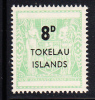 Tokelau MNH Scott #7 8p Light Green - Surcharges On NZ Post-Fiscals - Tokelau