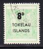 Tokelau Used Scott #7 8p Light Green - Surcharges On NZ Post-Fiscals - Tokelau