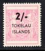 Tokelau MNH Scott #8 2sh Pink - Surcharges On NZ Post-Fiscals - Tokelau