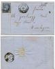 SWITZERLAND 1866 10c Blue Sitting Helvetia Letter Nachmittage - 1862-1881 Sitzende Helvetia (gezähnt)